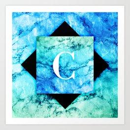 C - Monogram Vivids Art Print
