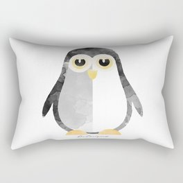 Water Colour Baby Penguin Rectangular Pillow