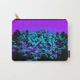 Mod Trees: Purple Violet Turquoise Carry-All Pouch