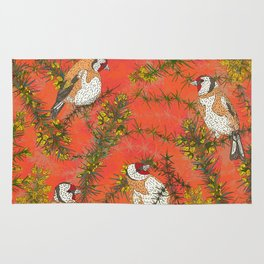 Goldfinches in Gorse Rug