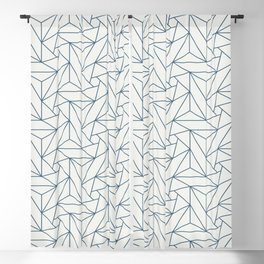 Blue & Off White Abstract Triangle Geometric Mosaic Pattern Pairs To 2020 Color of the Year Blackout Curtain