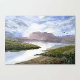 Water and Colour Canvas Print