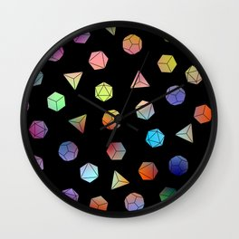 Platonic solids II Wall Clock