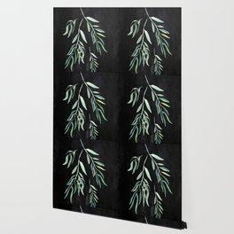 Eucalyptus Branches On Chalkboard II Wallpaper