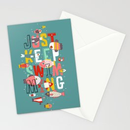 Just keep Swimming Fish Stationery Cards