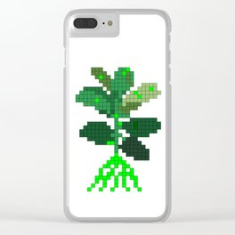 Plant Invader Clear iPhone Case