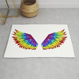 Rainbow Polygonal Wings Rug