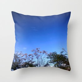 Flowers and Blue Sky Throw Pillow