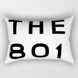 801 Utah Area Code Typography Rectangular Pillow