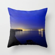 Looking toward the confluence at daybreak...  Throw Pillow