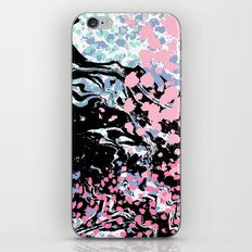 Abstract painting modern minimal ocean space galaxy space art minimalist pink and mint iPhone & iPod Skin