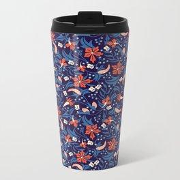 Moonlit Jungle Floral Metal Travel Mug