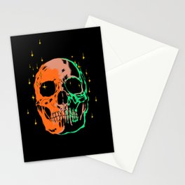 Space skull v1 Stationery Cards