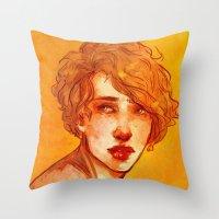 apollo Throw Pillows featuring apollo by chazstity