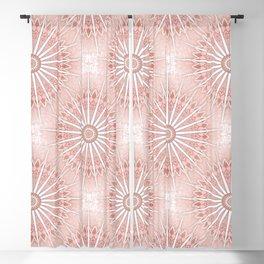 Blush Apricot Mandala Blackout Curtain