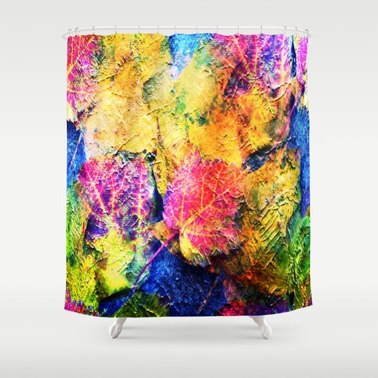 fall leave abstract shower curtain by judy palkimas society6