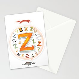 The Quick and the Zed Stationery Cards