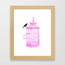 Brooke Figer - PRETTY smart BIRD Framed Art Print