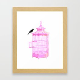 Brooke Figer - PRETTY smart BIRD Framed Art Print