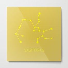 SAGITTARIUS (YELLOW-GOLD STAR SIGN) Metal Print
