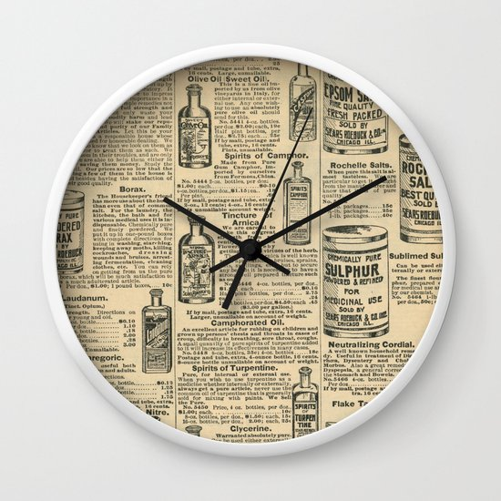 Vintage Catalogue Wall Clock By Nlmiller07art Society6