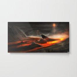 Lava Fountain | Environmental Concept Game Art Metal Print