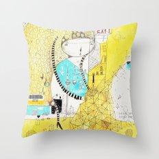 Making downtown  Throw Pillow