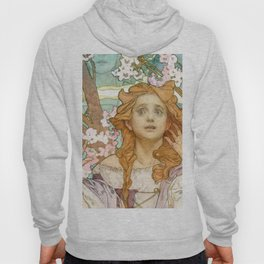 "Alphonse Mucha ""Maude Adams (1872–1953) as Joan of Arc"" Hoody"