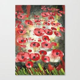 angela's poppies Canvas Print