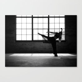 Ballet Dancer Silhouette Canvas Print