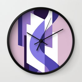 SUISSE - Art Deco Modern: PASSION FOR PURPLE Wall Clock