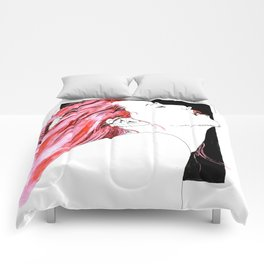 hair in rose Comforters
