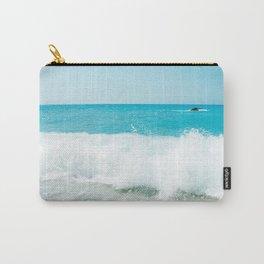 Minimal turquoise ionian wave - Porto Katsiki beach Carry-All Pouch