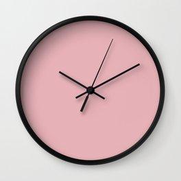 Coral Blush Wall Clock