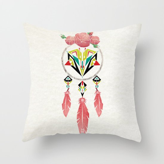 dream flowers Throw Pillow