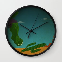 superheroes in the wild west Wall Clock
