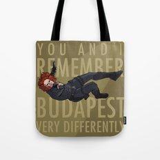 Budapest - Black Widow Tote Bag