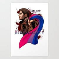 fandom Art Prints featuring Fandom Pride : Bisexuality ( Dean Winchester) by Cinensis