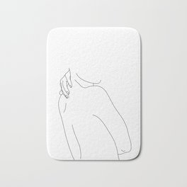 Hand on back line drawing - Isla Bath Mat
