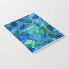 Alcohol Ink Leaves Notebook