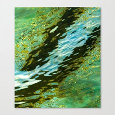 water reflection abstract Canvas Print