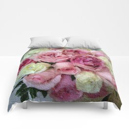 Gorgeous light pink and mauve wedding bouquet Comforters