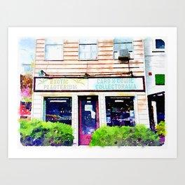 Comic Shop Del Ray Art Print