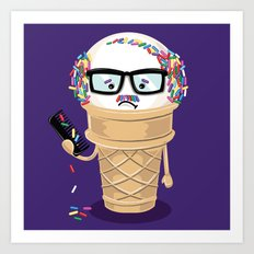 Ice Cream Coneover Art Print