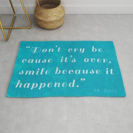 Quote / Dr. Seuss Rug
