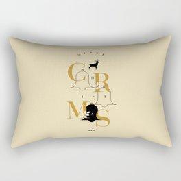 Merry Christmas Typo Rectangular Pillow