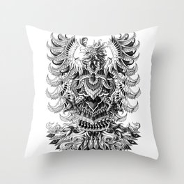 Heraldic Phoenix Throw Pillow