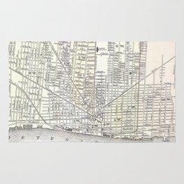 Vintage Map of Detroit Michigan (1872) Rug