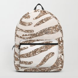 Glitter and Gold Tiger Stripes Backpack