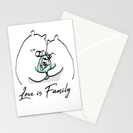 Love is Family Stationery Cards